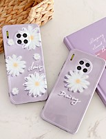 cheap -Case For Huawei P30 30pro 40 40pro Pattern Back Cover Word Phrase Flower TPU