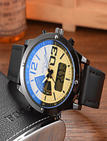 cheap -DIOUCE Men's Sport Watch Digital Sporty Outdoor Water Resistant / Waterproof Leather Black / Brown Analog - Digital - White Black Blue / Japanese