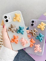 cheap -Apple Case For iPhone7 8 7plus 8plus  XR XS XSMAX  X SE  11  11Pro 11ProMax Transparent  Back Cover Five Colorful Bears 3D Cartoon TPU
