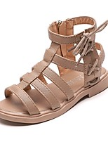 cheap -Girls' Sandals Comfort PU Little Kids(4-7ys) Black / Brown Summer
