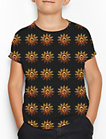 cheap -Kids Boys' Basic Geometric Print Short Sleeve Tee Black