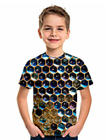 cheap -Kids Boys' Sports & Outdoors Basic Holiday 3D Short Sleeve Tee Rainbow