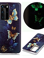 cheap -Case For Huawei Huawei P40 Pro Huawei P40 lite Huawei P40 Glow in the Dark Pattern Back Cover Butterfly TPU for Huawei Honor 10 Lite Y5 2019 Y6 2019 Y7 2019