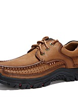 cheap -Men's Summer Daily Oxfords PU Black / Army Green / Brown