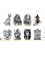 cheap -6 Sheets Randomly Tattoo Designs Temporary Tattoos Waterproof Half Arm Tattoo Sticker Cross Animal Portrait Design Tattoo Stickers HB747-756