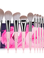 cheap -Professional Makeup Brushes 12pcs Professional Soft Full Coverage Artificial Fibre Brush Wooden / Bamboo for Blush Brush Foundation Brush Makeup Brush Lip Brush Eyebrow Brush Eyeshadow Brush