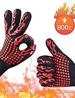 cheap -Oven Mitts Gloves Hand Bakewere BBQ Silicon gloves High Temperature Anti-scalding 500/800 Degree Insulation Barbecue Microwave