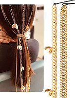 cheap -Women's Hair Jewelry For Gift Holiday Street Festival Shell Classic Aluminum Golden 1pc