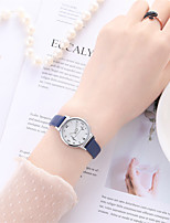 cheap -Women's Quartz Watches Quartz Stylish Fashion Adorable PU Leather Black Analog - White Black Blue One Year Battery Life