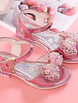 cheap -Girls' Sandals Flower Girl Shoes PU Little Kids(4-7ys) Pink / Gold Summer
