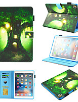 cheap -Case For Apple iPad Mini 3 2 1  iPad Mini 4  iPad Mini 5 360 Rotation Shockproof  Magnetic Full Body Cases sky  Tree  Panda PU Leather  TPU