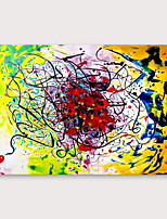 cheap -IARTS®Hand Painted Doodling Oil Painting   with Stretched Frame For Home Decoration