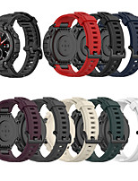 cheap -Soft Silicone Watch Band For Amazfit T-Rex Smart Watch Bracelet Replacement Wristband Adjustable Sports Watch Strap