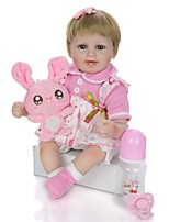 cheap -KEIUMI 18 inch Reborn Doll Baby & Toddler Toy Reborn Toddler Doll Baby Girl Gift Cute Washable Lovely Parent-Child Interaction Full Body Silicone with Clothes and Accessories for Girls' Birthday and