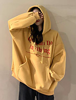 cheap -Women's Hoodie Long Sleeve Classic Style Sport Athleisure Hoodie Thermal Soft Everyday Use Daily Casual