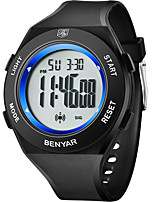 cheap -BENYAR Men's Sport Watch Digital Modern Style Sporty Outdoor Calendar / date / day Silicone Black Digital - Blue Red Yellow / Chronograph / Noctilucent
