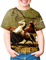 cheap -Kids Boys' Basic Horse Animal Print Short Sleeve Tee Green