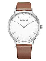 cheap -RONMAR Men's Sport Watch Quartz Sporty Casual Water Resistant / Waterproof Genuine Leather Black / Silver / Brown Analog - Black Gold Silver / Stainless Steel / Japanese