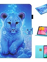 cheap -Case For Samsung Galaxy  Tab A 10.1(2019)T510 Tab A 8.0(2019)T290 295  Tab S6 Lite (SM-P610 615) Card Holder with Stand Flip Full Body Cases Animal PU Leather