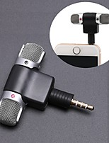 cheap -Mini 3.5mm Jack Microphone Stereo Mic For Recording Mobile Phone Studio Interview Microphone 4 pin For smartphone