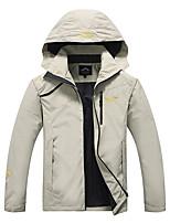 cheap -Men's Boys' Hiking Jacket Hiking Windbreaker Outdoor Windproof Warm Soft Comfortable Jacket Hoodie Winter Jacket Black / Army Green / Burgundy / Grey / Khaki