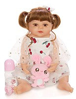 cheap -KEIUMI 22 inch Reborn Doll Baby & Toddler Toy Reborn Toddler Doll Baby Girl Gift Cute Washable Lovely Parent-Child Interaction Full Body Silicone 23D95-C304-T21 with Clothes and Accessories for