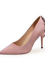 cheap -Women's Heels Spring / Fall Pumps Pointed Toe Wedding Party & Evening Rhinestone Satin Almond / Black / Red