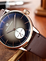 cheap -PAGANI Men's Sport Watch Quartz Modern Style Stylish Casual Water Resistant / Waterproof Leather Brown Analog - Brown / Noctilucent