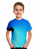 cheap -Kids Boys' Sports & Outdoors Basic Holiday Geometric Short Sleeve Tee Blue