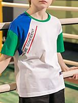 cheap -Kids Boys' Street chic Patchwork Short Sleeve Tee White