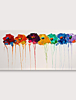 cheap -Handmade Colorful Flowers Oil Painting on Canvas Modern Abstract Large Landscape Wall Art for Living Room