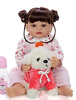 cheap -KEIUMI 22 inch Reborn Doll Baby & Toddler Toy Reborn Toddler Doll Baby Girl Gift Cute Washable Lovely Parent-Child Interaction Full Body Silicone 22D05-C75-T36 with Clothes and Accessories for Girls