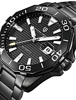 cheap -PAGANI Men's Mechanical Watch Automatic self-winding Modern Style Stylish Casual Water Resistant / Waterproof Stainless Steel Analog - Black / Silver Black+Gloden Green / Calendar / date / day
