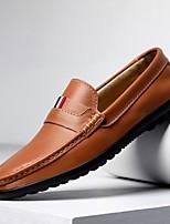 cheap -Men's Summer Daily Loafers & Slip-Ons PU Black / Orange / Brown