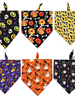 cheap -Dog Cat Bandanas & Hats Dog Bandana Dog Bibs Scarf Cartoon Party Casual / Sporty Halloween Sports Dog Clothes Adjustable Costume Polyster L