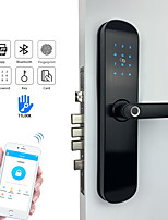 cheap -Electronic Security Smart Bluetooth App WiFi Digital Code IC Card Biometric Fingerprint Door Lock for Home