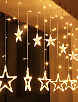 cheap -2.5M Star LED String Lights Curtain Lights Fairy Light Living Room Outdoor Tree Decoration Lights Christmas Halloween Wedding Valentine's Day Decoration Lights With EU Round Plug