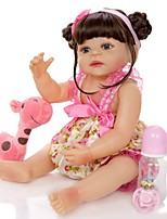 cheap -KEIUMI 22 inch Reborn Doll Baby & Toddler Toy Reborn Toddler Doll Baby Girl Gift Cute Washable Lovely Parent-Child Interaction Full Body Silicone 22D05-C100-H115-T01 with Clothes and Accessories for