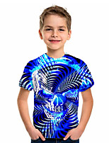 cheap -Kids Boys' Basic Holiday Geometric Print Short Sleeve Tee Blue
