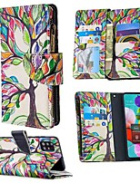 cheap -Case For Samsung Galaxy A51 A71 A70E A11 A21 A01 Note 10 Plus Wallet  Card Holder with Stand Full Body Cases Tree PU Leather For Galaxy M11 A31 A41 A81 A91 A30S A50S