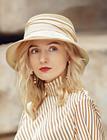 cheap -Casual / Daily Natural Fiber / Polyester Hats with Color Block 1pc Casual / Daily Wear Headpiece