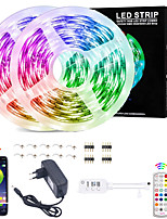 cheap -LED Strip Lights Waterproof RGB Strips10M SMD2835 Music Sync Color Changing  Bluetooth Controller  24Key Remote Control Decoration for Home TV Party - APP Controlled