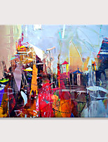 cheap -Modern Abstract Painting Wall Artwork Mosaic Contemporary Picture Art Hand Painted Texture on Canvas for Bedroom Rolled Without Frame