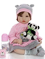 cheap -KEIUMI 22 inch Reborn Doll Baby & Toddler Toy Reborn Toddler Doll Baby Girl Gift Cute Lovely Parent-Child Interaction Tipped and Sealed Nails Half Silicone and Cloth Body with Clothes and Accessories