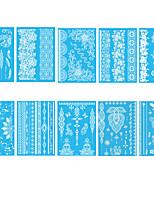 cheap -6 Sheets Randomly Tattoo Designs Temporary Tattoos White Lace Tattoo Stickers Waterproof Creative Shape Animal Tattoo DesignYHB011-YHB020