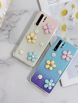 cheap -Case For Huawei Honor 8 7P 7S 8P Mate 10 10 pro 10 Lite 20 20 Pro 20 Lite 30 30 Pro Translucent Pattern Back Cover Flower TPU