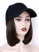 cheap -Synthetic Wig Natural Straight Short Bob Wig Short Light Brown Dark Auburn#33 Black Medium Brown Synthetic Hair 10 inch Women's Party New Arrival Fashion Black Dark Brown