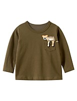 cheap -Kids Boys' Basic Tiger Animal Print Long Sleeve Tee Brown