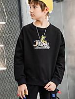 cheap -Kids Boys' Street chic Geometric Long Sleeve Hoodie & Sweatshirt White