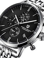 cheap -PAGANI Men's Sport Watch Quartz Modern Style Stylish Classic Water Resistant / Waterproof Stainless Steel Leather Analog - Black / Silver White+Golden White+Silver / Calendar / date / day